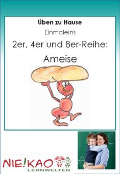 Üben zu Hause - Einmaleins - Ameise (2,4,8)