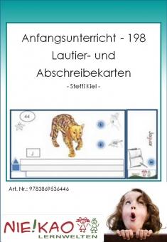 Anfangsunterricht - 198 Lautier- und Abschreibekarten