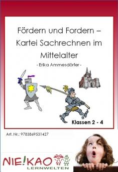 """Fördern und Fordern - Kartei """"Sachrechnen im Mittelalter"""""""