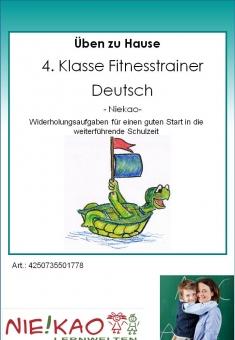 Üben zu Hause - 4. Klasse Fitnesstrainer Deutsch