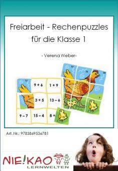 Freiarbeit - Rechenpuzzles für die Klasse 1