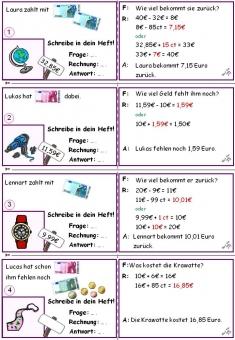 rechnen mit geld klasse 3 sachaufgaben